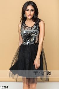 '.Коктейльное платье с пайетками .'