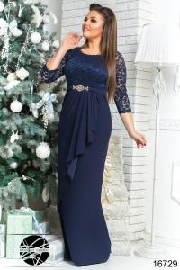 '.Вечернее платье с гипюром .'