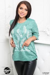 '.Пуловер с принтом перья .'