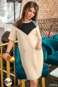 '.Платье с контрастными вставками .'