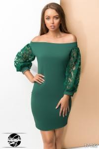 '.Платье с открытыми плечами .'
