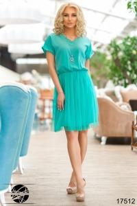 '.Коктейльное платье с сеткой .'