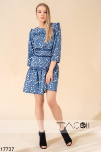 '.Платье с цветочным принтом .'