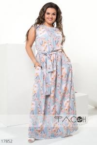 '.Длинное цветочное платье .'