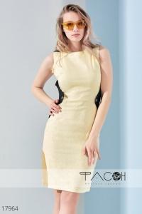 '.Контрастное деловое платье .'