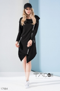 '.Платье-туника с капюшоном .'