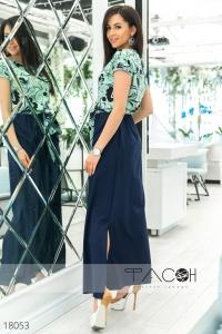 Длинное цветочное платье
