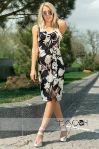 Цветочный сарафан-миди