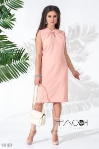 Платье с бантом на груди