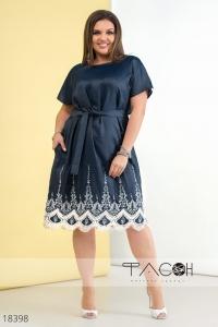 '.Джинсовое платье с вышивкой .'