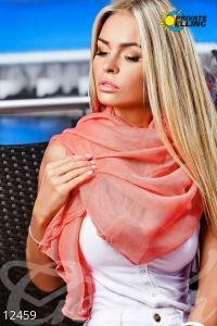Тонкий однотонный шарф