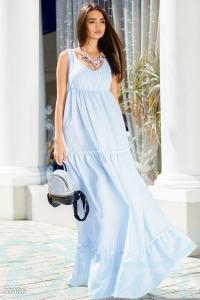 '.Длинное платье в полоску .'
