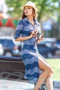 '.Гипюровое платье с комбинацией .'
