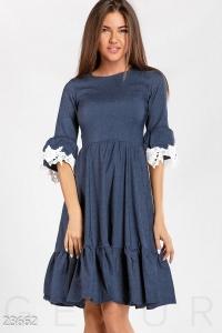 '.Женственное платье с воланами .'