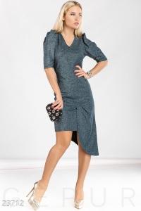 '.Асимметричное платье с люрексом .'