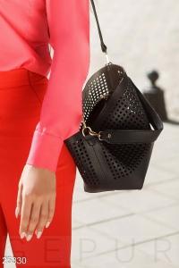 '.Перфорированная женская сумка .'