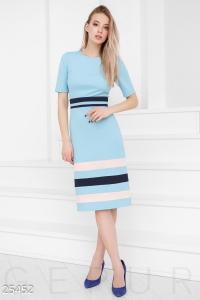 '.Цветное платье-миди .'