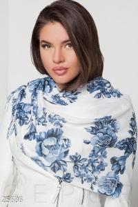 '.Цветочный шарф-палантин .'