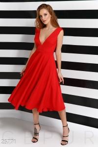 '.Яркое платье А-силуэта .'