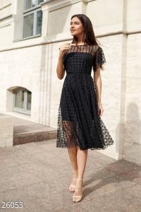 '.Воздушное платье-сетка .'