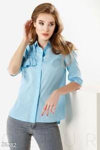 '.Однотонная женская рубашка .'